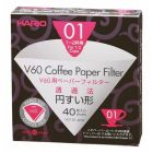 HARIO V60 PAPER FILTER 01 DRIPPER 40 SHEETS - BLEACHED
